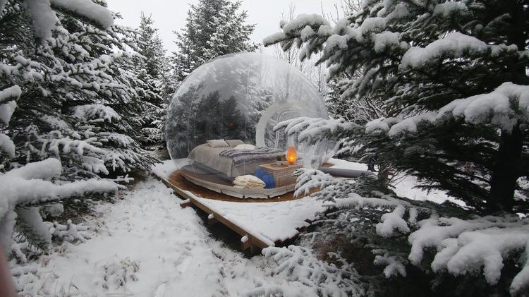 Самые необычные отели-пузыри. Почему весь мир сходит по ним с ума?