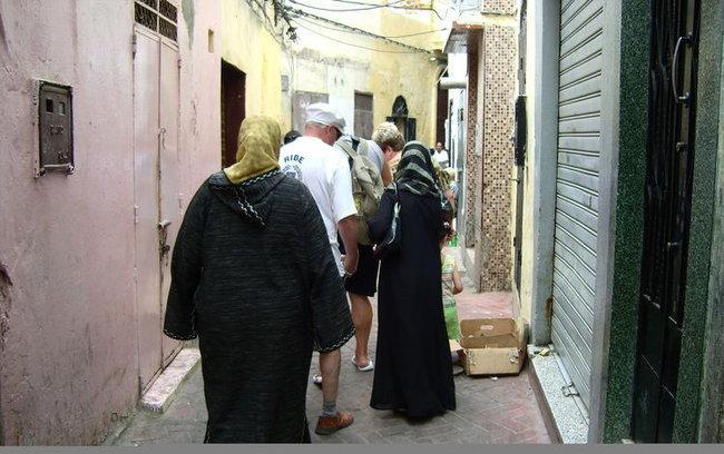 Узкие улочки Медины