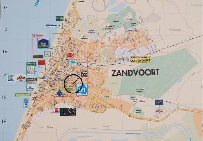 Карта Зандвоорта