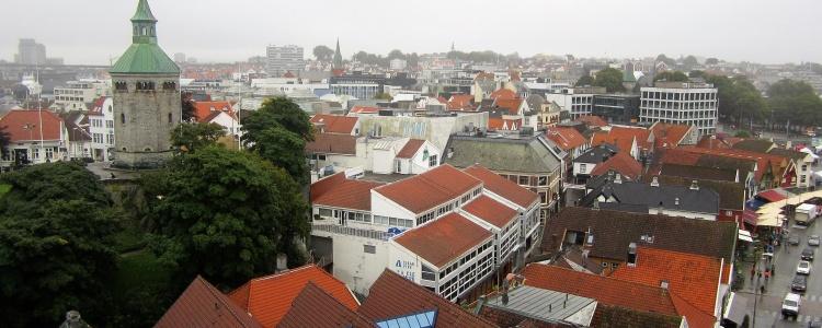 Вид на город с палубы лайнера