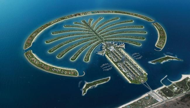 Дубай. Остров Пальма Джумейра.
