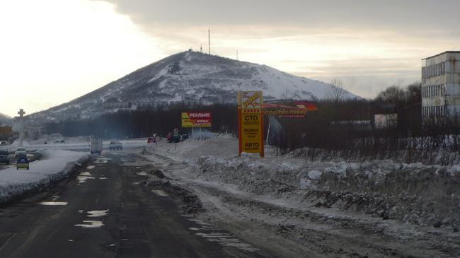 Сопка Мишенная,вид с улицы Академика Королева.