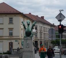 Змиев мост, Любляна
