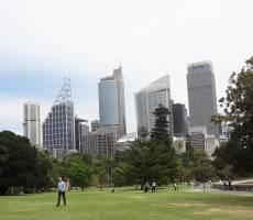 центр Сиднея из ботсада