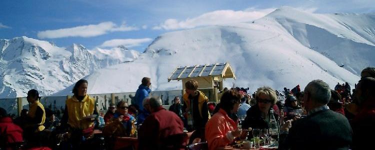 Ресторан с видом на МонБлан