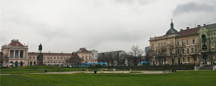 Загреб в январе