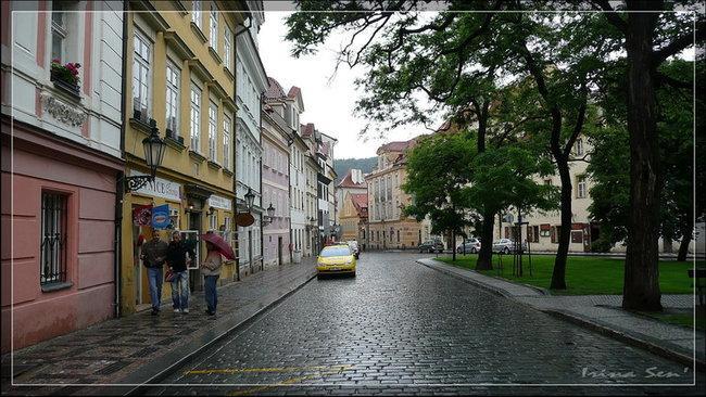 Прага под дождем