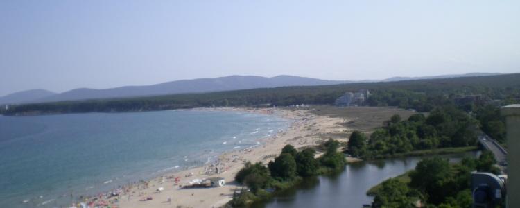 Вид на Чёрное море и реку Дявольска