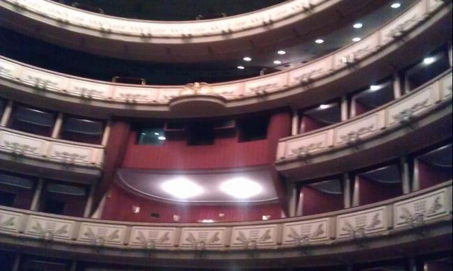 В зрительном зале Венской оперы.