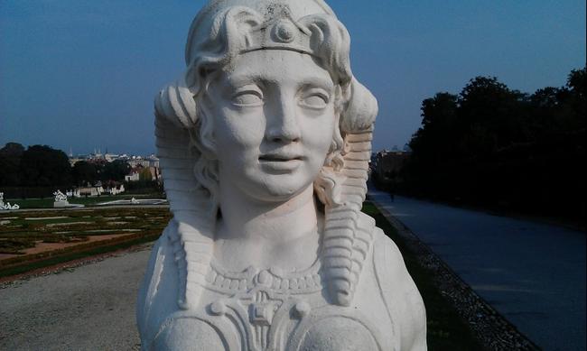 Вена. Скульптура в Бельведере.