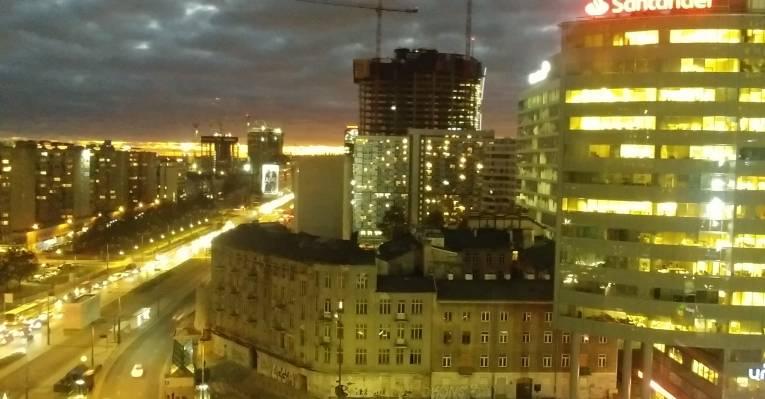 Ночная Варшава