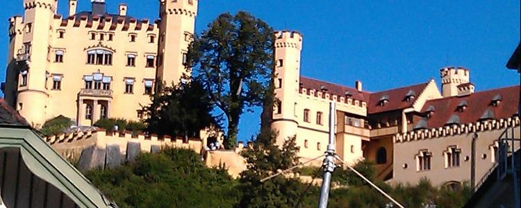 Замок Хоэншвангау в Баварии.