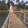 Мост через реку на пляже Мандрем