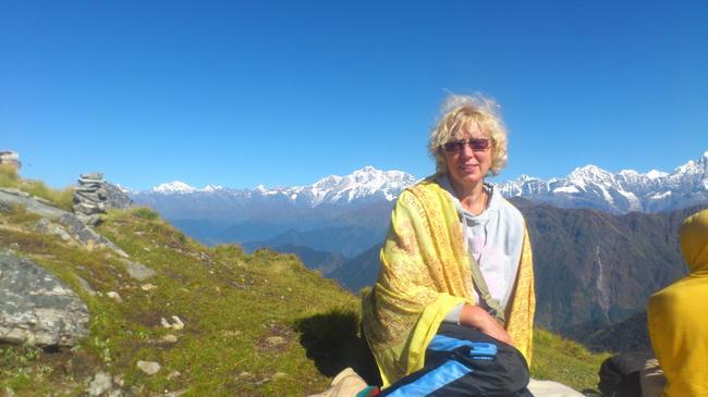 На Чандра Шиле. Высота 4100 м.