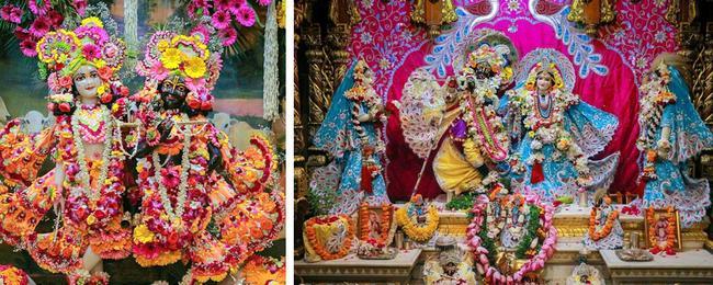 Вриндаван. Божества в храме Кришна-Баларам (Исккон).