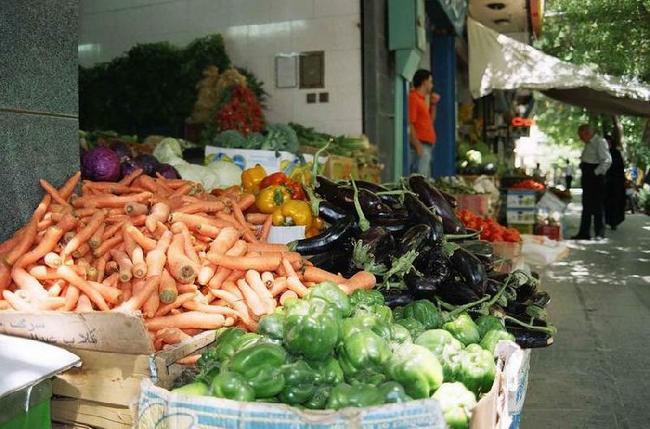 Исфахан. Продажа овощей.