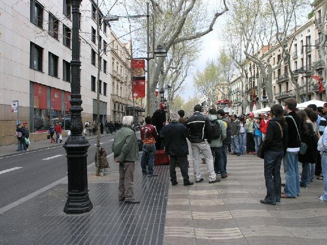 Барселона Представление на Рабла Санта-Моника