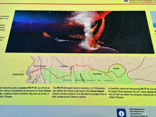 Схема извержения Тейде