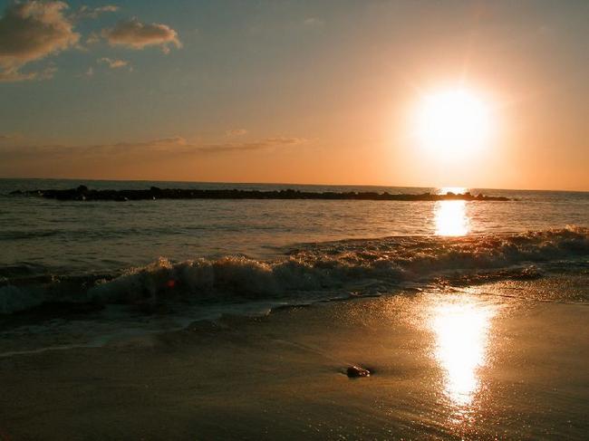 Атлантический океан. Закат.