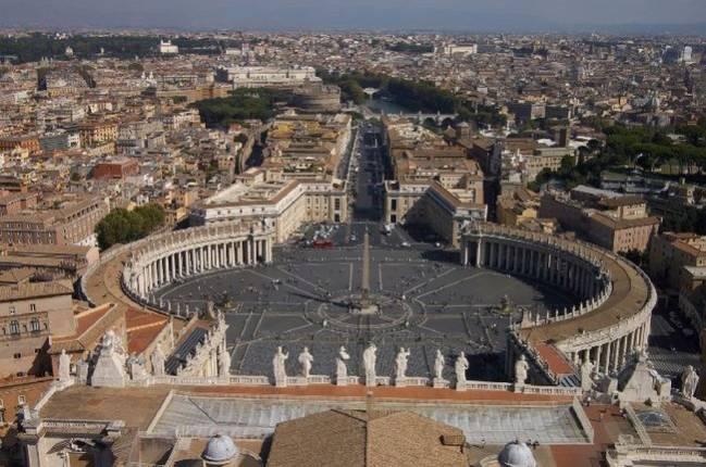 Панорама Рима с купола собора Св.Петра