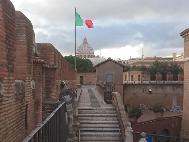 Вид на Ватикан из замка