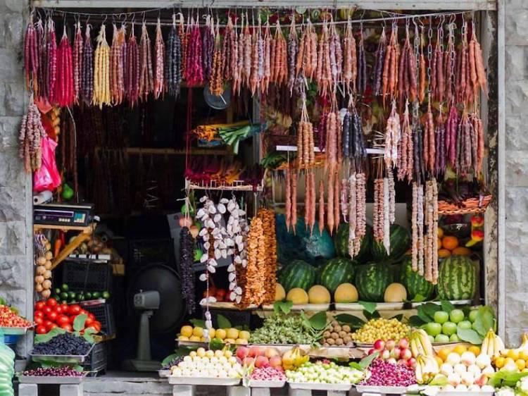 Чурчхелла, овощи и фрукты