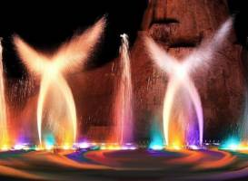 Волшебные танцующие фонтаны