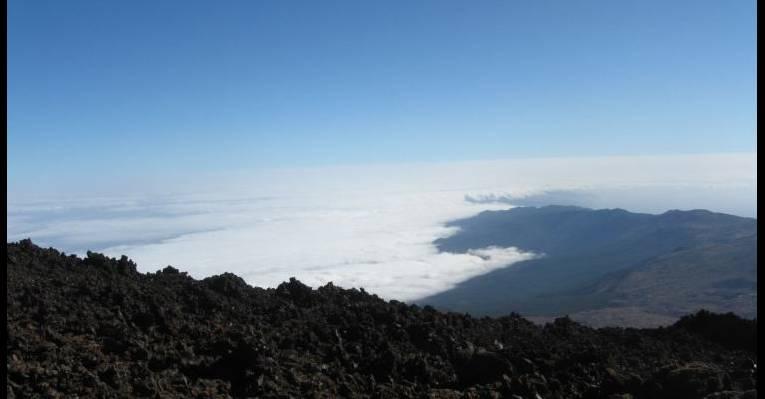 Вид с вулкана на Тенерифе
