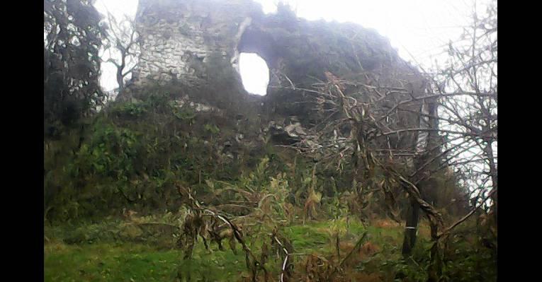 дождливым днём вид на замок Баграта