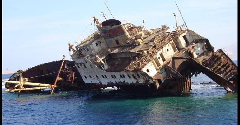 Затонувший корабль Лара