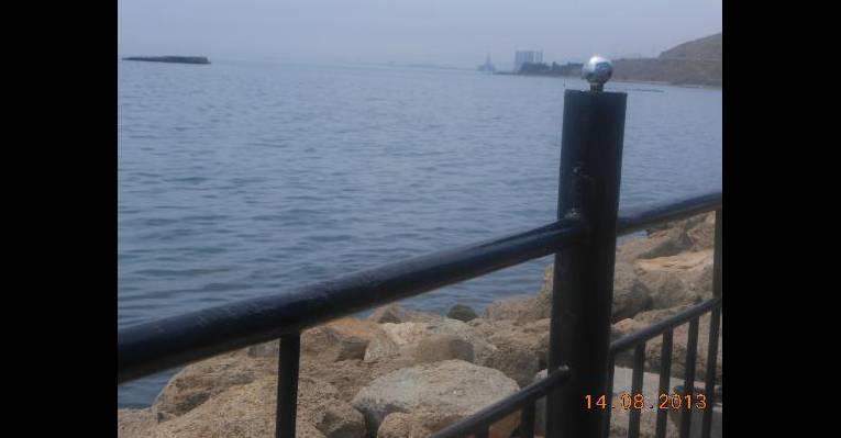 Вид на Каспий из ресторана