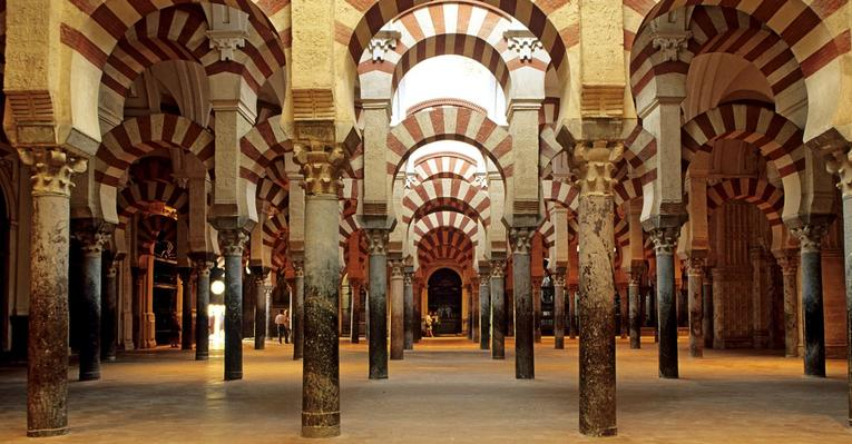 the building of the first mosque la mezquita of cordoba