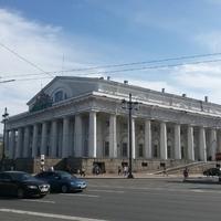 Центральный военно-морской музей и Ростральные Колонны