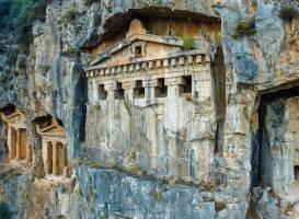 Carian rock tombs