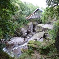Bracklinn Falls Bridge and Callander Crags