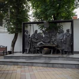 памятник Запорожцы пишут письмо турецкому султану