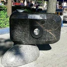Скульптура фотоаппарат-мыльница