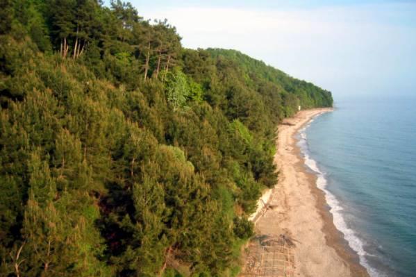 Вид из отеля на побережье