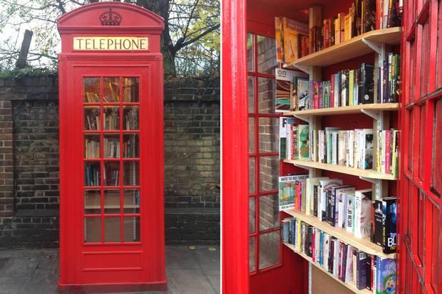 Великобритания: В Лондоне библиотека открылась в телефонной будке