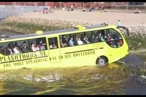 Австрия: Зальцбург обзавёлся новым аттракционом для туристов — автобусом-амфибией