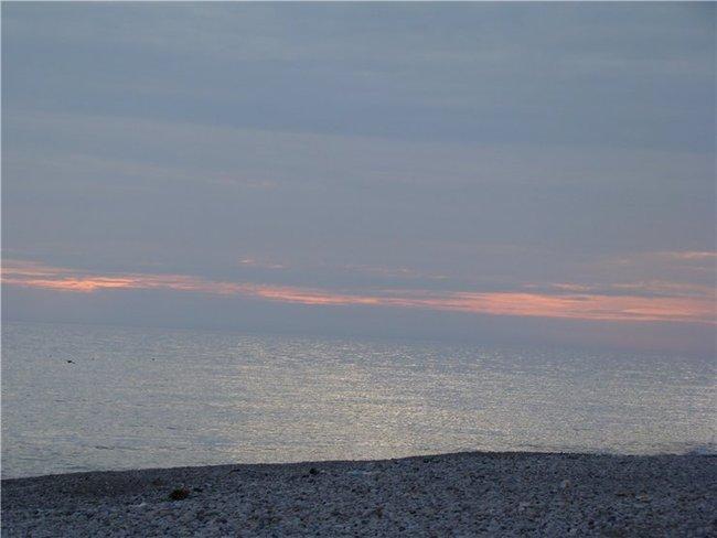 Закат на море...