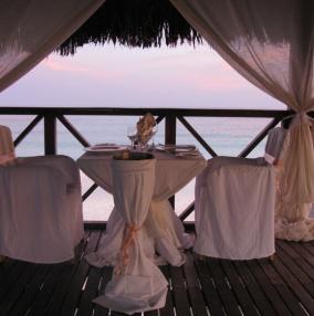 романтический свадебный ужин