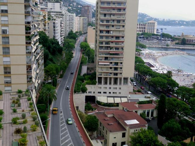 Вид с верхних уровней Монте-Карло