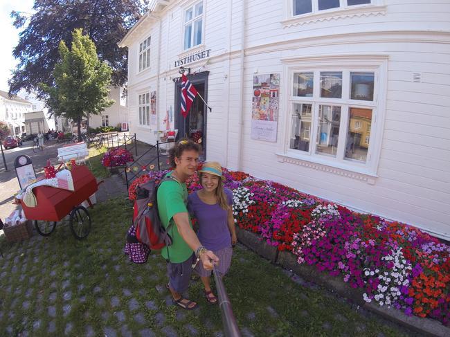 Гримстад - живописный городок между Осло и Кристиансанном