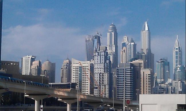 Панорама Дубая. Апрель 2016.