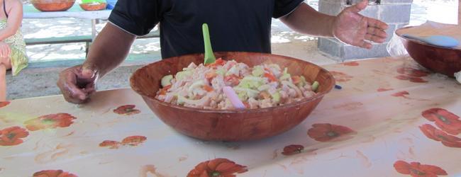 Салат из свежей рыбы