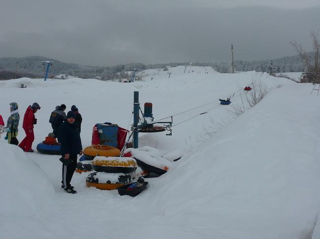 Хвалынский горнолыжный курорт. Сноутюб