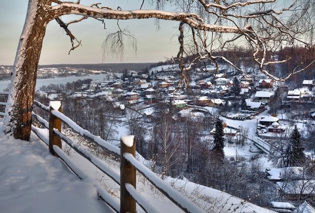 Плес и река Волга, Зима