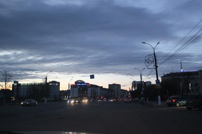 Тверской проспект. Вечер