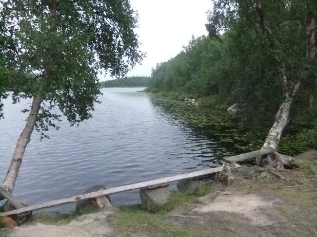 Анзер.Привал у озера.